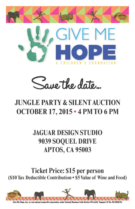 Save the Dtae for Jungle Part Fundraiser